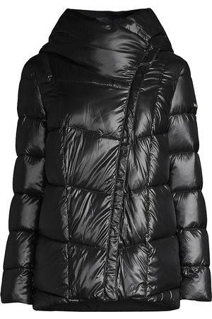 Donna Karan Women's Stand Collar Down Puffer Coat - - Size XS