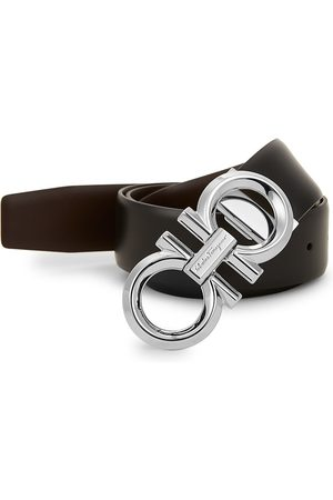 Salvatore Ferragamo Men's Reversible & Adjustable Gancini Belt - - Size 42