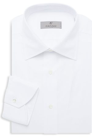 CANALI Men's Modern-Fit Basic Dress Shirt - - Size 16