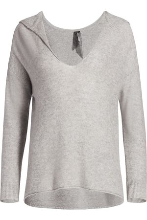 NAADAM Women's V-Neck Cashmere Hoodie - - Size Large