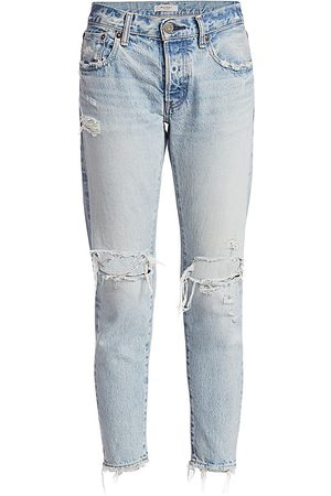 Moussy Women's Yardly Tapered Distressed Jeans - - Size 31 (10)