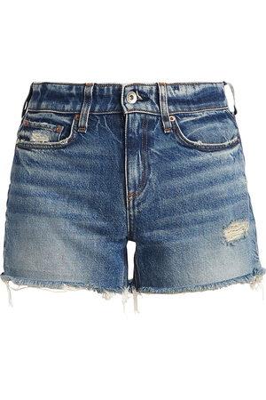 RAG&BONE Women's Dre Low-Rise Denim Shorts - - Size 30 (8-10)