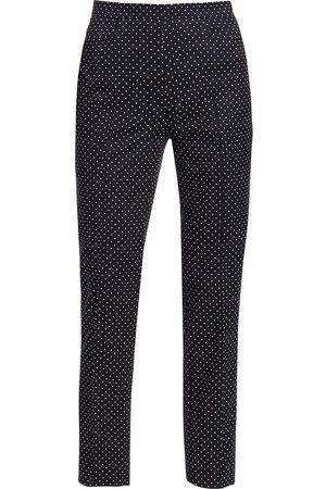 AKRIS Women's Franca Micro Polka Dot Pants - - Size 18