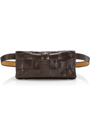Bottega Veneta Men's Woven Leather Belt Bag