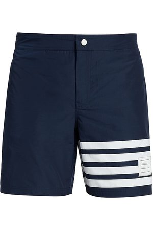 Thom Browne Men's Four-Bar Swim Tech Trunks - - Size 2 (Medium)