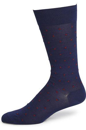 Marcoliani Men's Dot Print Socks - Cobalt