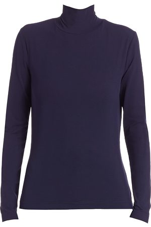ST. JOHN Women's Caviar Collection Long-Sleeve Top - - Size XL