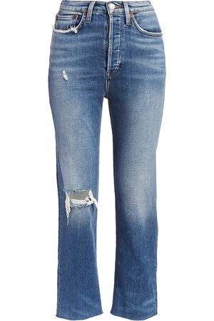 RE/DONE Women's Comfort Stretch Ultra High-Rise Stovepipe Jeans - - Size 32 (12)