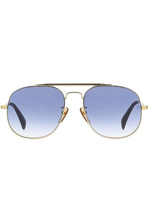 David beckham Men's 61MM Metal Aviator Sunglasses