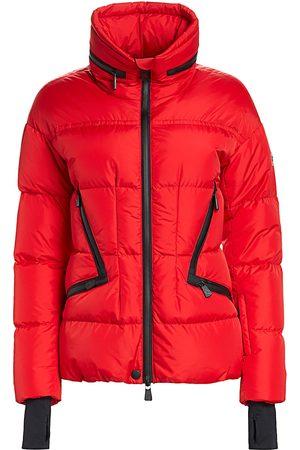 Moncler Women's Dixence Contrast Zip Puffer Coat - - Size 5 (XXL)