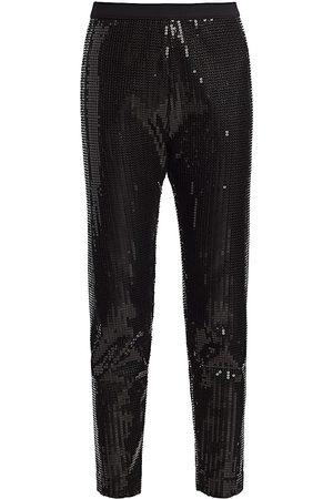 Joan Vass Women's Sequin Pants - - Size 1 (8-10)
