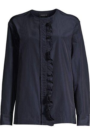 Lafayette 148 New York Women's Arlo Ruffled Tech Jacket - - Size Large
