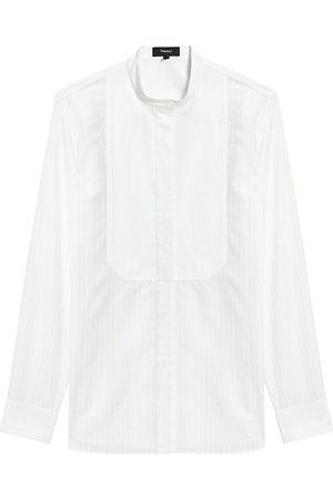 THEORY Women's Combo Bib Shirt - - Size Medium