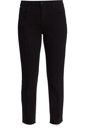 L'Agence Women's Sada High-Rise Crop Slim Straight Jeans - - Size 32 (12)