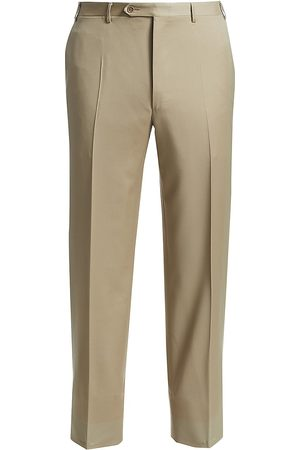 CANALI Men's Regular-Fit Wool Pants - - Size 52 (36)