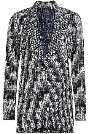 ST. JOHN Women's Stepped Wicker Knit Jacket - - Size 16