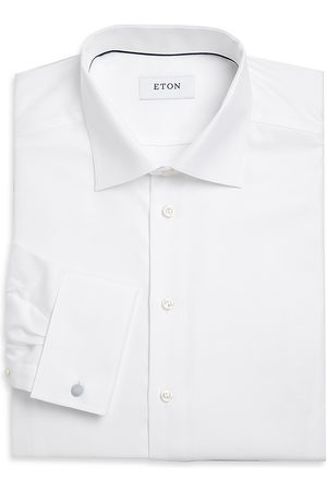 Eton Men's Contemporary-Fit Cavalry Twill Formal Shirt - - Size 17