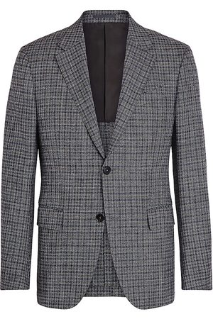 Ermenegildo Zegna Men's Plaid Wool-Blend Sportcoat - - Size 50 (40) R