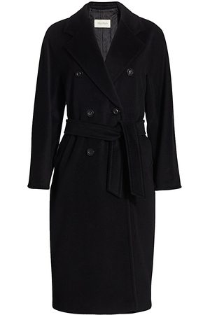 Max Mara Women's Madame Wool Cashmere Belted Wrap Coat - - Size 8
