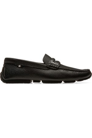 Bally Men's Pebbled Leather Driver Loafers - - Size 11.5