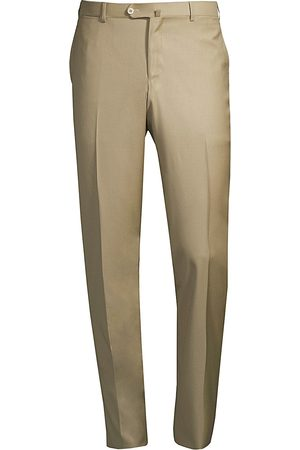 ISAIA Men's Solid Wool Trousers - - Size 56 (40)