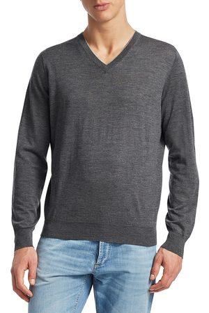 Brunello Cucinelli Men's Wool & Cashmere V-Neck Pullover - - Size 56 (46)