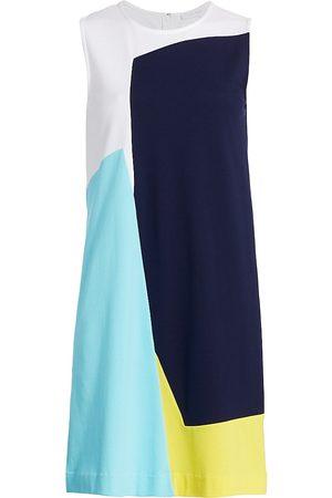 Joan Vass Women's Sleeveless Colorblock Dress - - Size 1 (Medium)