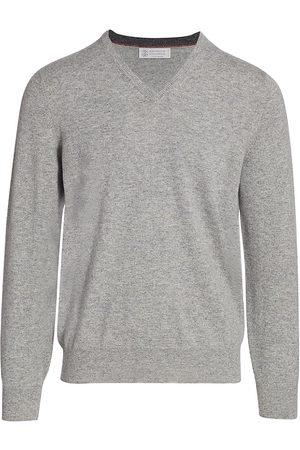 Brunello Cucinelli Men's Cashmere V-Neck Sweater - - Size 52 (42)