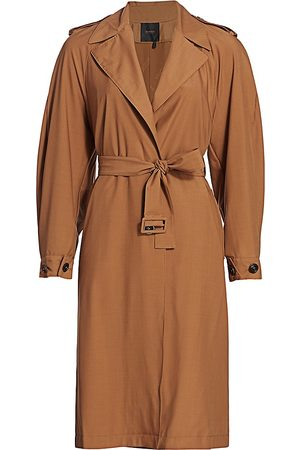 Agnona Women's Water Repellent Trench Coat - - Size 40 (4)