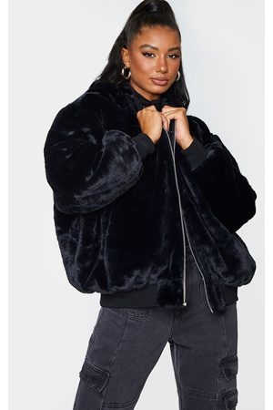 PRETTYLITTLETHING Faux Fur Reversible Bomber Jacket