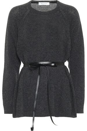VALENTINO Belted wool and cashmere sweater