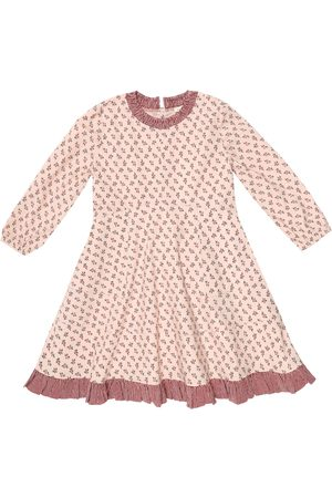 Caramel Crane floral stretch-cotton dress