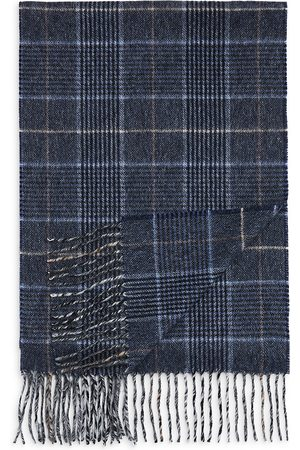 Bloomingdale's Men Scarves - Glen Plaid Cashmere Scarf - 100% Exclusive