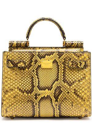Dolce & Gabbana Sicily snake-print tote bag