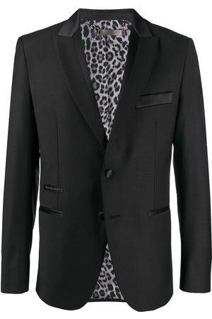 Philipp Plein Sequin animal-stripe tuxedo jacket