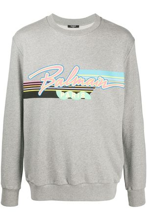 Balmain Cotton logo-print sweatshirt - Grey