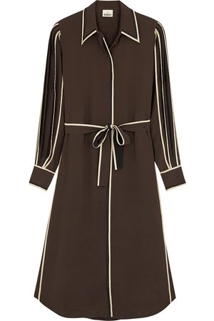 BODICE Silk crepe de chine shirt dress