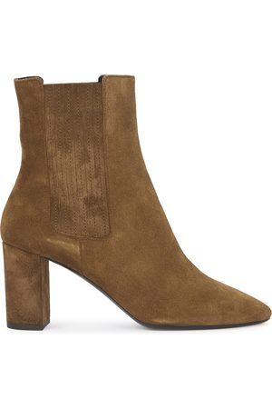 Saint Laurent Mica 75 suede ankle boots