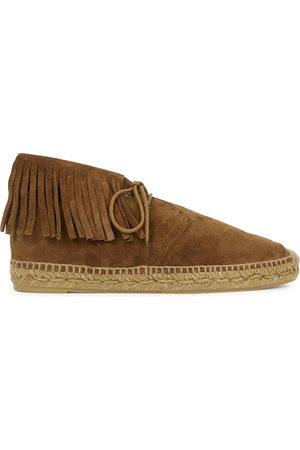 Saint Laurent Florence suede espadrille desert boots