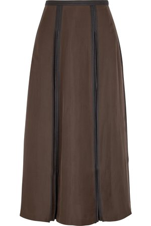 BODICE Women Midi Skirts - Pleated silk midi skirt