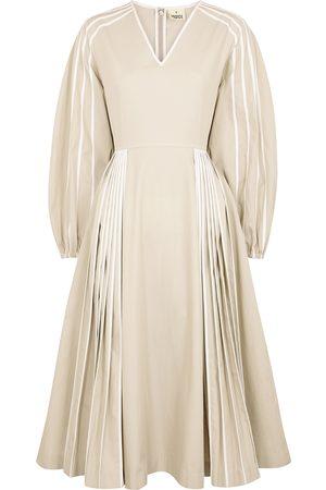 BODICE Women Midi Dresses - Cream cotton midi dress