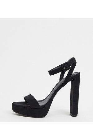 ASOS Wide Fit Natasha platform barely there heeled sandals in