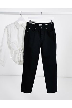 Selected Friday high waisted mom jeans in