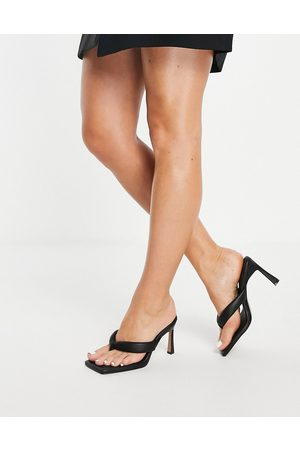 ASOS Haven padded toe thong heeled sandals in