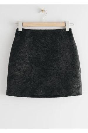 & OTHER STORIES Jacquard Mini Skirt