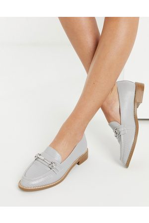 ASOS Mabel snaffle loafers in -Grey