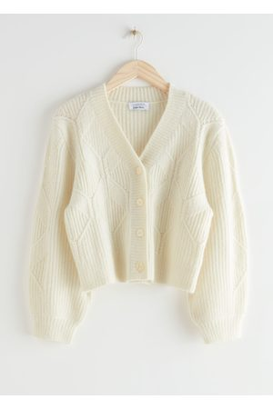 & OTHER STORIES Button Up Cable Knit Cardigan