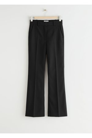 & OTHER STORIES Slim Flared High Waist Trousers