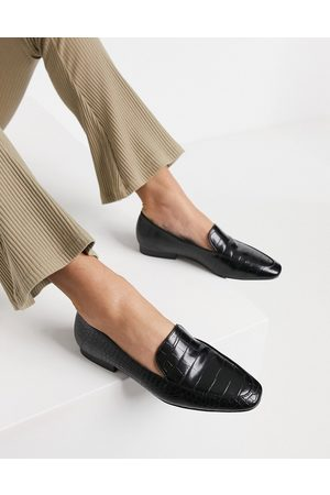 ASOS Mindy flat loafers in croc