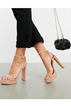 ASOS Natasha platform barely there heeled sandals in